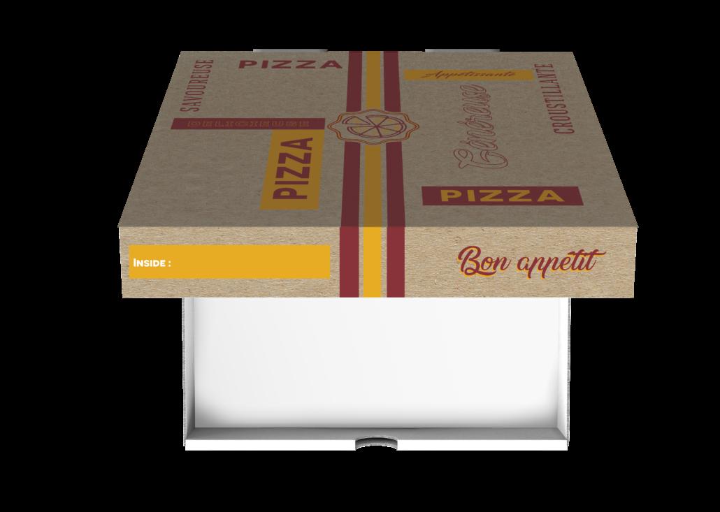 Boite à pizza angle carré